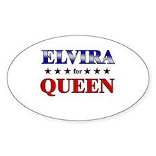 ELVIRA for queen Oval Decal