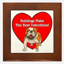 Bulldogs Make The Best Valent Framed Tile