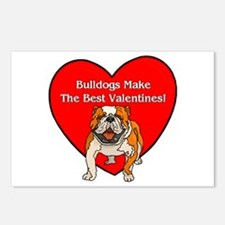 Bulldogs Make The Best Valent Postcards (Package o