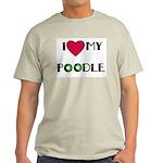 LOVE MY POODLE Ash Grey T-Shirt