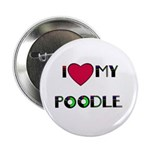 """LOVE MY POODLE 2.25"""" Button (10 pack)"""