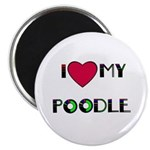 """LOVE MY POODLE 2.25"""" Magnet (10 pack)"""