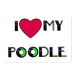 LOVE MY POODLE Postcards (Package of 8)