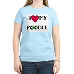 LOVE MY POODLE Women's Pink T-Shirt
