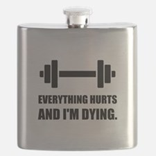 Everything Hurts Dying Workout Flask