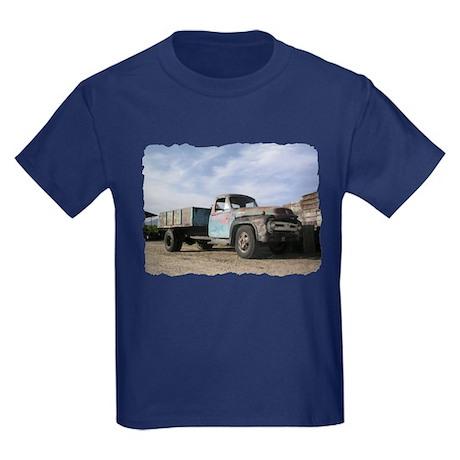 Helaine's Ford F-600 Pickup Kids Dark T-Shirt