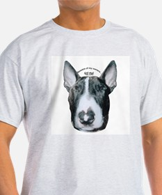 Miniature Bull Terrier Ash Grey T-Shirt