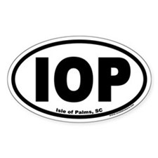 Isle of Palms, SC IOP Euro Style Oval Decal