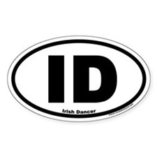 Irish Dancer ID Euro Style Oval Decal