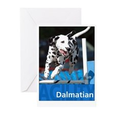Agility Dalmatian Greeting Cards
