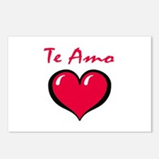 Te Amo Postcards (Package of 8)