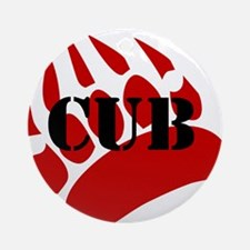 CUB/RED PAW Ornament (Round)