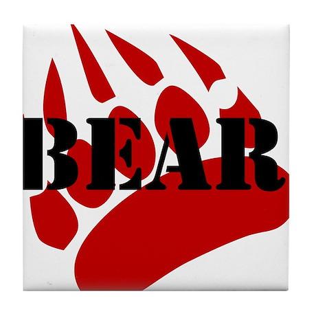 BEAR/RED PAW Tile Coaster
