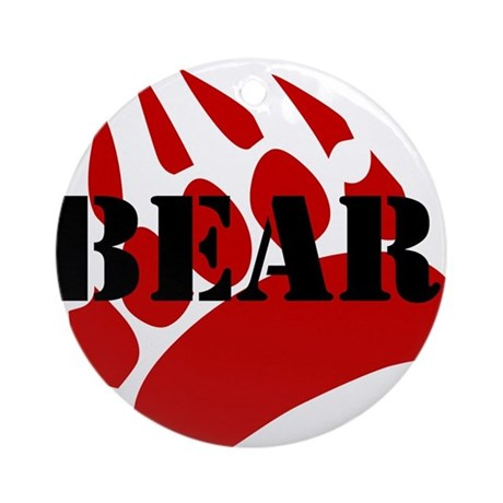 BEAR/RED PAW Ornament (Round)