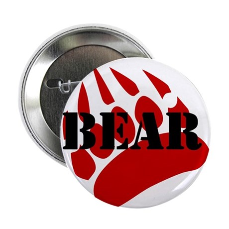 "BEAR/RED PAW 2.25"" Button"