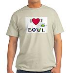 LOVE 2 BOWL Ash Grey T-Shirt