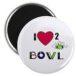LOVE 2 BOWL Magnet