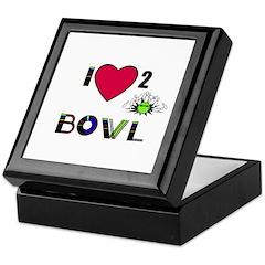 LOVE 2 BOWL Keepsake Box