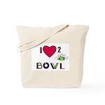 LOVE 2 BOWL Tote Bag