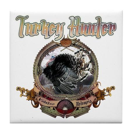 Turkey hunter Art Tile Coaster