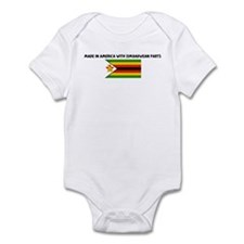 MADE IN AMERICA WITH ZIMBABWE Infant Bodysuit