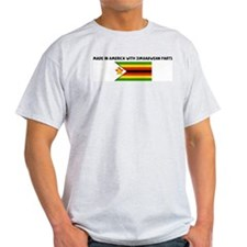 MADE IN AMERICA WITH ZIMBABWE T-Shirt