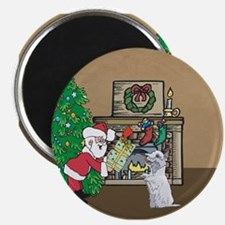 Santas Gift To a Westhighland White Terrier Magnet
