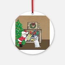 Santas Gift To a Westhighland White Terrier Orname
