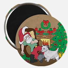 Santa Has A Westie Christmas Magnet