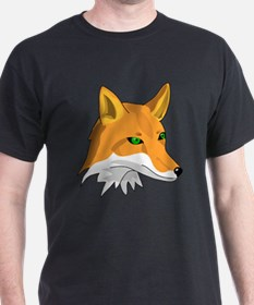 Kitsune (Red Fox) with Green T-Shirt