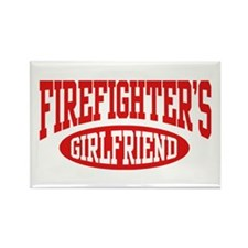 Firefighter's Girlfriend Rectangle Magnet