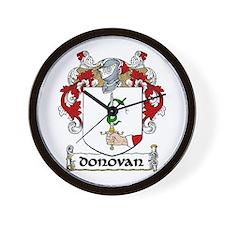 Donovan Coat of Arms Wall Clock
