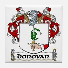 Donovan Coat of Arms Ceramic Tile