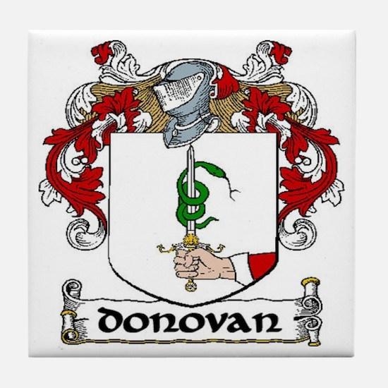 Donovan Coat of Arms Ceramic Tile
