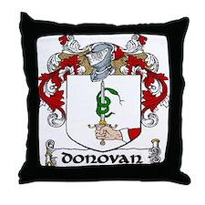 Donovan Coat of Arms Throw Pillow