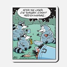 Raccoon Laser Eye Surgery Mousepad