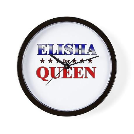 ELISHA for queen Wall Clock