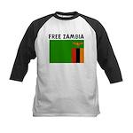 FREE ZAMBIA Kids Baseball Jersey
