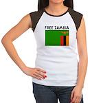 FREE ZAMBIA Women's Cap Sleeve T-Shirt