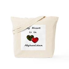 Heart in Afghanistan Tote Bag