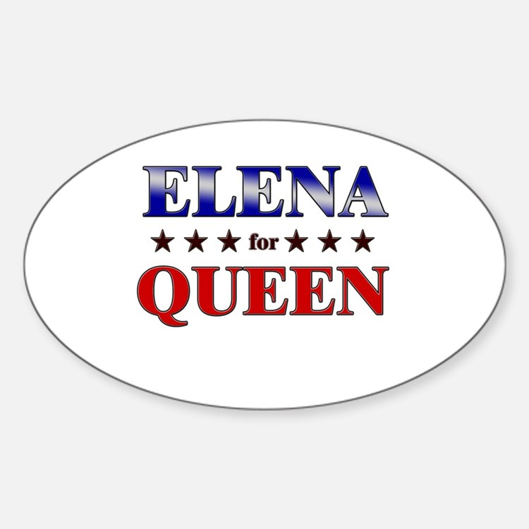ELENA for queen Oval Decal