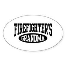 FireFighter's Grandma Oval Decal