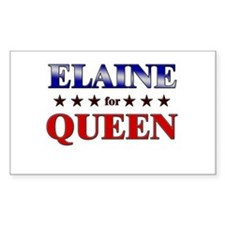 ELAINE for queen Rectangle Decal