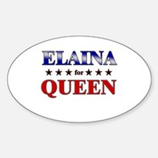 ELAINA for queen Oval Decal