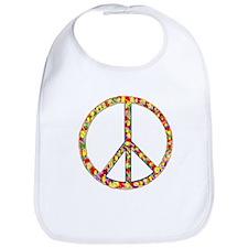 Funky Peace Symbol Bib
