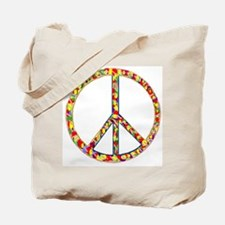 Funky Peace Symbol Tote Bag