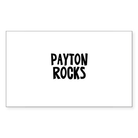 Payton Rocks Rectangle Sticker