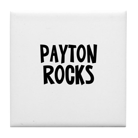 Payton Rocks Tile Coaster