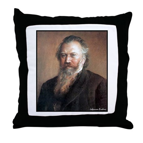 "Faces ""Brahms"" Throw Pillow"
