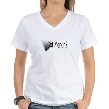 Got Merkin Black Patch Women's V-Neck T-Shirt